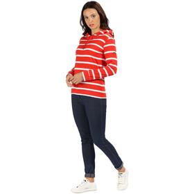 Regatta Magdelina Hoodie Damen fiery red stripe/white